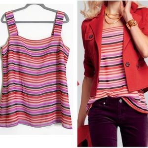 NEW- CAbi Banded cami striped tank #3448